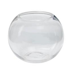 ANA - Vase Verre Boule D9/15 x H13 cm Coupe Froid
