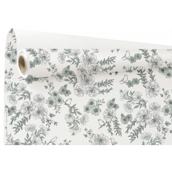 LITTLE BIRD - Papier Kraft Blanc  et bleu Water Resistant 0.79 x 25 m