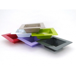 Coupes Zinc rectanges Ass. 6 couleurs L10 x P10 x H5 cm