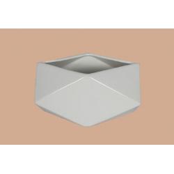 LITO - Vase bas allongé Céramique Blanc L20 x P11.5 x H11 cm