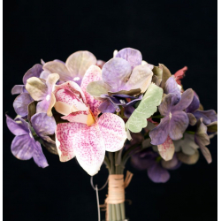 Bouquet Orchidée, cymbidium, hortensia H30 cm Couleurs assorties