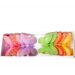Piques Papillon H8 cm par 12