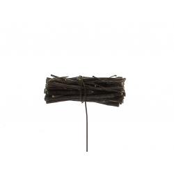 Pique Fagot de bois Naturel L8 x H9 cm par 24