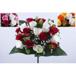 Bouquet 24 branches Rose, Gypso Ass. H38 cm par 12