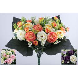 Bouquet 33 branches Rose, bouton de rose, mini fleurs H50 cm