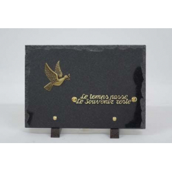 Plaque rectangulaire Granit + inter Or Ass. L17 x H25 cm par 6