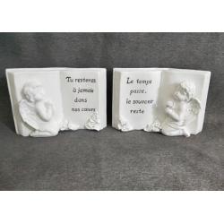 ANGEL - Ange livre Résine Blanc L21,5 x 8,5 x P14,5 cm par 2