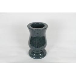 VASEFU - Vase Galbé Bleu Porcelaine H29 cm