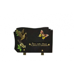 Plaque Coeur Granit 17 x 25 cm par 6