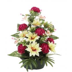 Jardinière Chrysanthème, clématite, orchidée H54 x L49 cm par 3
