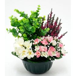 Vasque Violette, rose, bruyère, gypso / buis H30 x L30 cm Ass. par 5