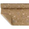 ANTIQUE  - Papier Kraft Naturel Motifs Blanc résistant à l'eau 0,80 x 40 m