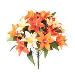 LOU - Bouquet 24 branches Lys tigré H43 cm par 12