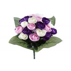 Bouquet 24 branches Renoncule H37 cm par 12