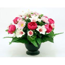 Vasque sur pied Pivoine, lys, gerbera, bouton de rose H39 x D53 par 3