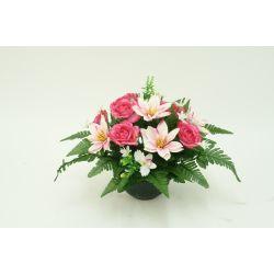 Vasque Camélia, dahlia, mini fleurs H33 x D53 cm par 4