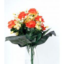 Bouquet 30 branches Rose, orchidée, gyspo Ass. H50 cm par 6