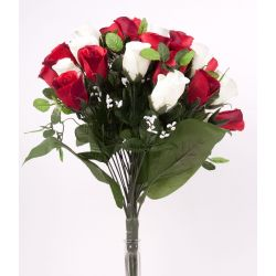 Bouquet 35 branches Rose, gyspo Ass. H44 cm par 6