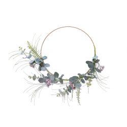 EVA - Couronne de fleurs avec branche Rose D30 x 9 cm