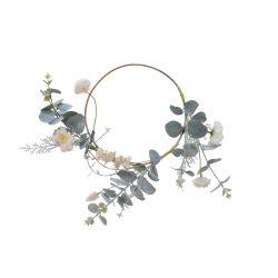 EVA - Couronne de fleurs avec branche Eucalyptus D20 x 5 cm