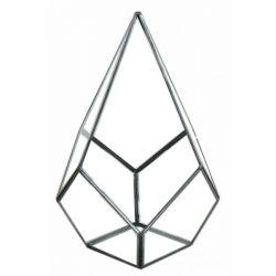 DIAMOND - Terrarium Verre & Fer Noir D18 x 18 x H26 cm