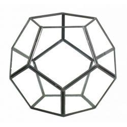DIAMOND - Terrarium Verre & Fer Noir D18 x 18 x H15 cm