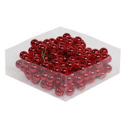 Boules Verre avec fil Rouge brillant D20 mm par 144