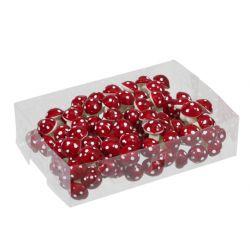 Piques champignons Rouge D2,2 cm par 96