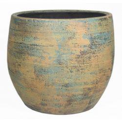 BRAGA - Céramique Pot Ocre D16 x H14 cm