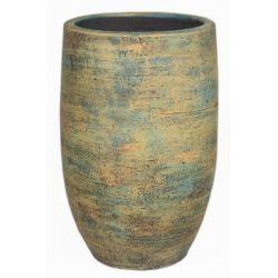 BRAGA - Céramique Vase Ocre D21 x H40 cm
