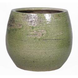 LYNN - Céramique Pot Vert D19 x H16 cm