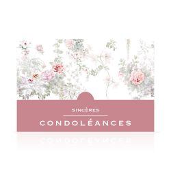 Carte Sincères Condoléances Grand Format par 10