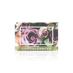 """CONDO - Carte Jeso """"Brillant"""" par 10 Sincères Condoléances"""
