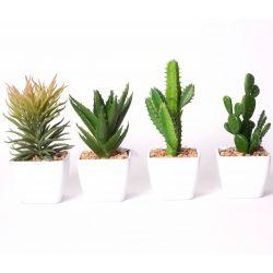 Pot 4 modèles assortis Vert D16 à 20 cm
