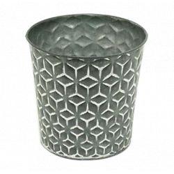 MAT - Pot Zinc Motifs Noir mat D12,5 x H13 cm