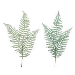 FOUGERE - Branche de fougère artificielle Assorties vert givré H90 cm