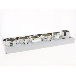 BALVI - Petits pots assortis Argent D8 x H7,5 cm par 12