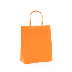 SAC KRAFT - Orange 90g a/torsadées 18x8x22 cm - 50 sacs