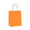 Sac Kraft Orange 90g torsadées 18x8x22 - 50 sacs