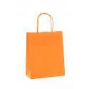 Sac Kraft Orange 100g torsadées 23x12x30 - 50 sacs