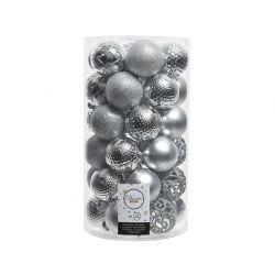 Boules Plastique mix Argent ass. D6 cm par 37