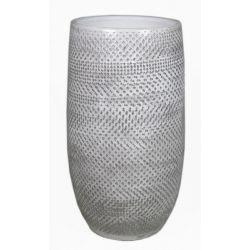SABINE - Vase Céramique Blanc D22 x H40 cm