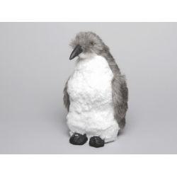 Pingouin Déco Blanc/Gris h 26 cm