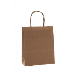 SAC KRAFT - Chocolat 100g a/torsadées 23x12x30 cm - 50 sacs