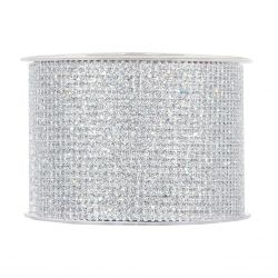 GLITTER - Ruban fil brillant Argent 60 mm x 10 m