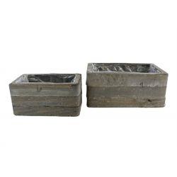 Caisse bois 32.5x16.5 H9.5 - série de 3