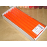 Bougie Flambeau 25cm Orange  x12