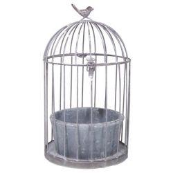 Cage en fer + Coupe ciment D24 x H44 cm
