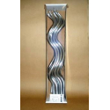 Bougie Spirale 44cm Argent x12
