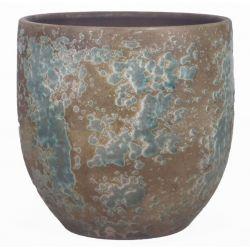 LUUK - Ciment  Pot Vert D13 x H13 cm par 6